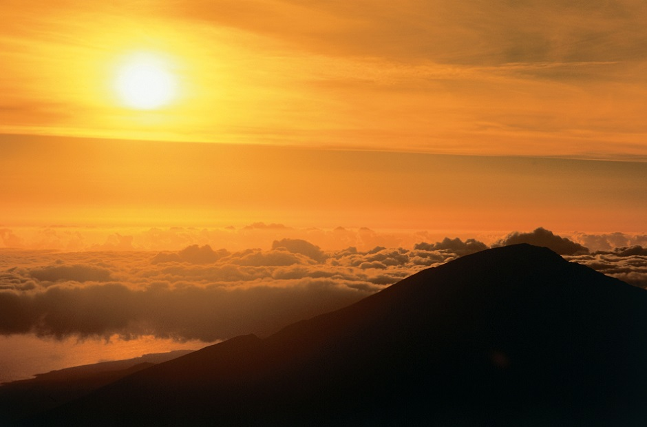 Sunrise over Haleakala Crater, Island of Maui.
