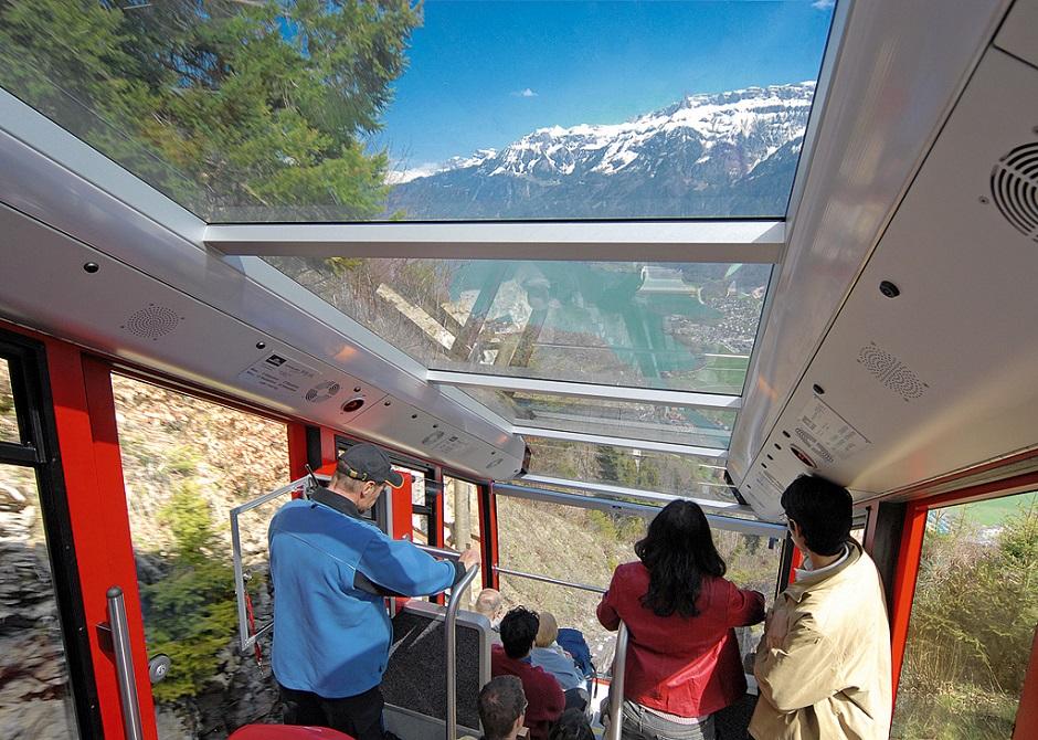 ハーダークルム展望台へのケーブルカー Jungfrau.ch