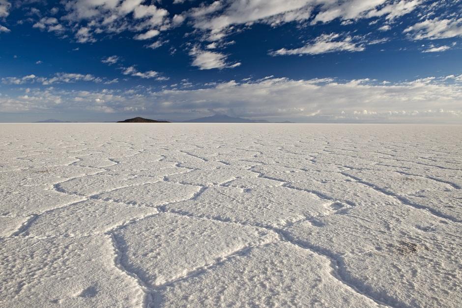 ウユニ塩湖の乾季