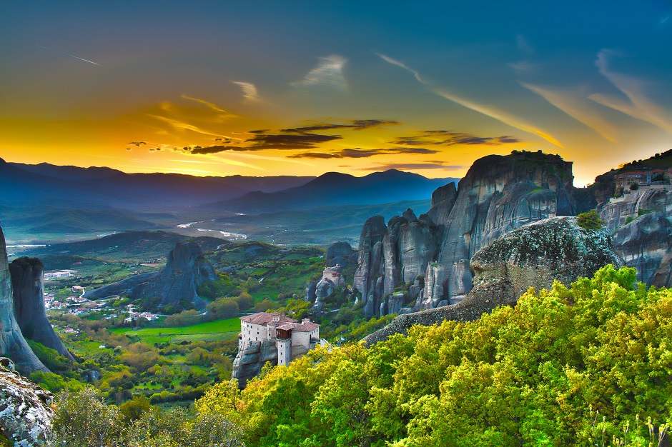 Monasteries on the rocks, Meteora, Greece