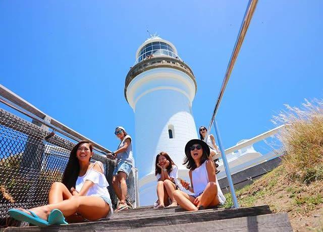 バイロンベイ灯台 フォトジェニックな写真を!