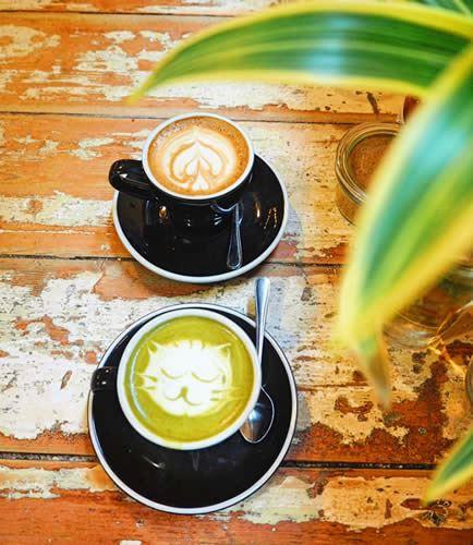 メルボルンのカフェ