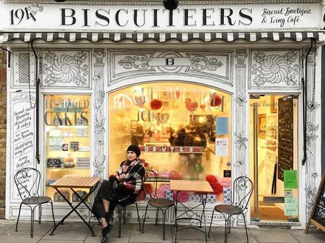 イギリスのフォトジェニックスポット6位:ビスケッティアーズ ブティック アンド アイシング カフェ