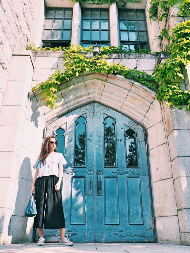 韓国のフォトジェニックスポット:梨花女子大学