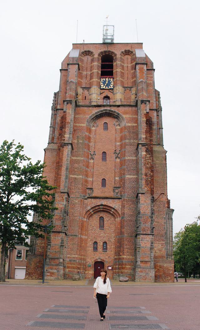 オランダ レーワルデン オルデンホーフェ斜塔
