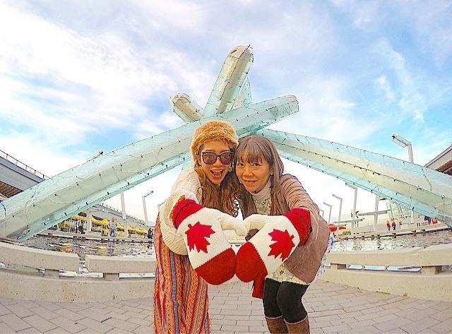 カナダ・バンクーバー オリンピック聖火台
