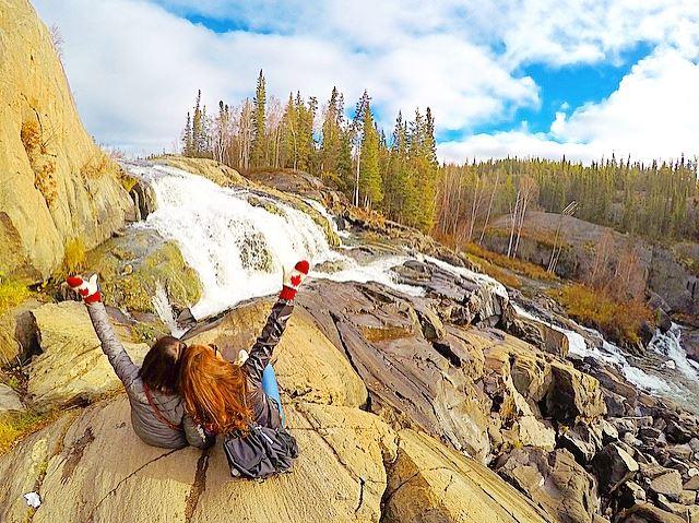 カナダ・イエローナイフ キャメロン滝