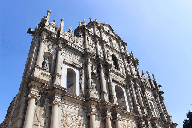 世界遺産の街 マカオ 聖ポール天主堂跡
