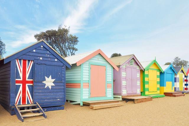 オーストラリア メルボルン Brighton Beach Boxes