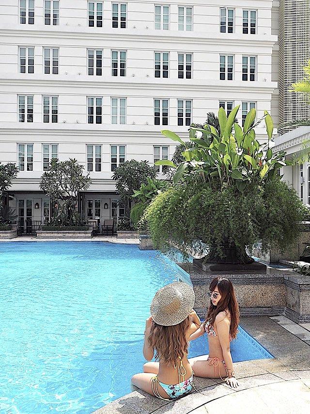 ベトナム・ホーチミン パークハイアットホテル プール