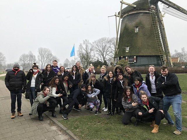 オランダ みんなで記念撮影