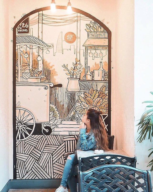 ベトナム・ホーチミン カフェ「Loft cafe」