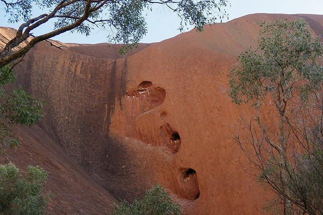 オーストラリア エアーズロック ハートのくぼみ