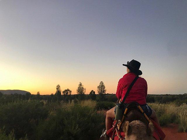オーストラリア エアーズロック グラデーションの空