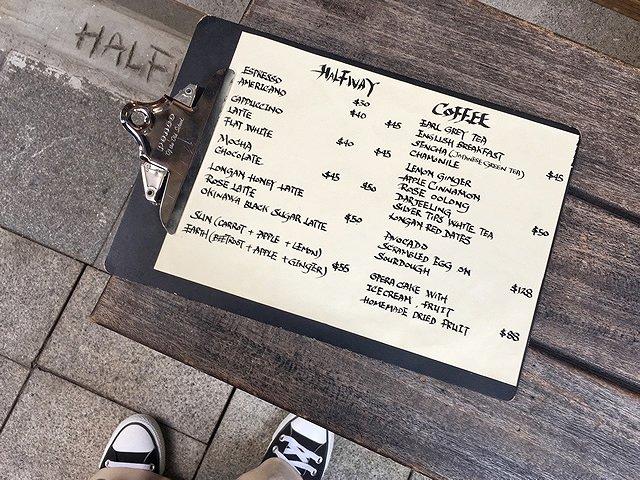 香港 カフェ「Halfway Coffee」