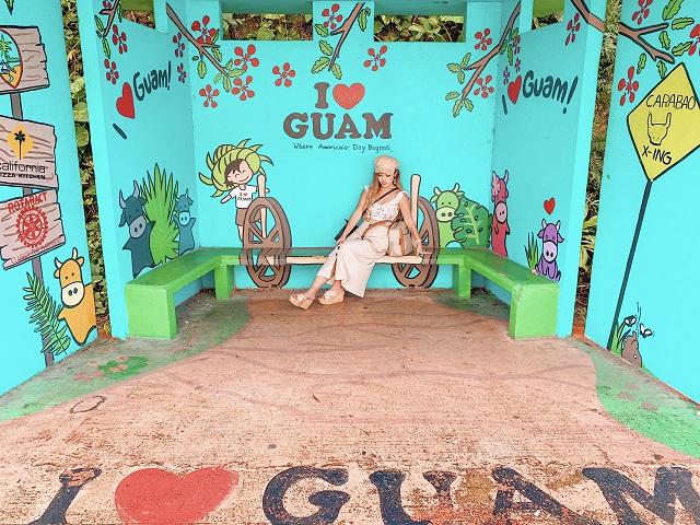 グアム バス停
