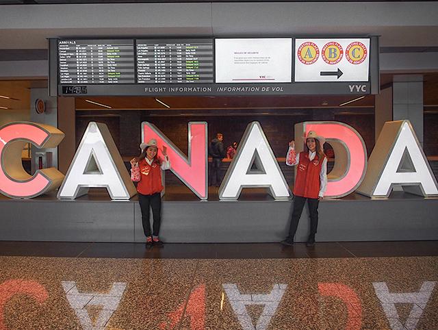 カルガリー空港ボランティア体験